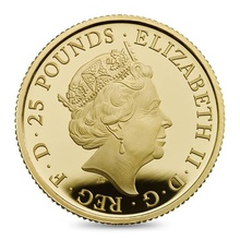 2017 Proof Quarter Britannia Gold Coin Boxed
