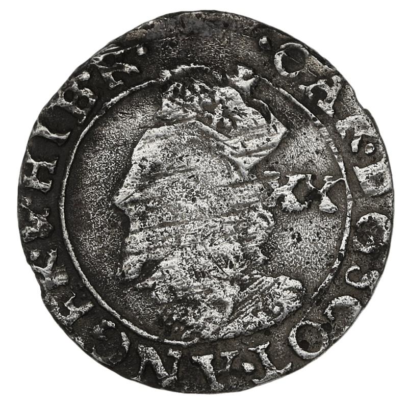 1625-49 Scottish Charles I Hammered Silver Twenty Pence