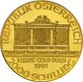 1991 1oz Austrian Gold Philharmonic Coin