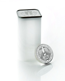 Tube of 10 x 2oz Silver Coin, Falcon of the Plantagenets 2019