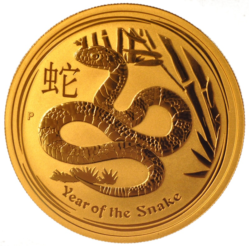 2013 Tenth Ounce Year of the Snake Gold Coin