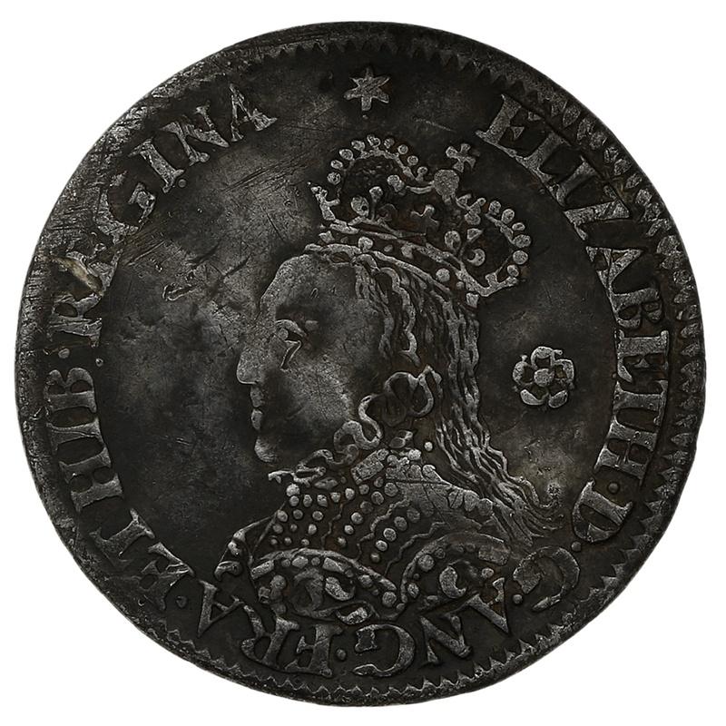 1562 Elizabeth I Milled Silver Threepence mm Star