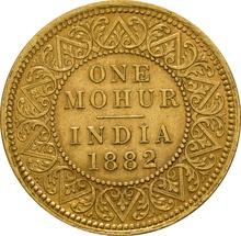 One Mohur India 1882 C CGS65 GEF MS60-61