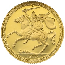 1973 Gold Half Sovereign - Elizabeth II Decimal Portrait - Isle of Man Proof