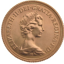 1981 Gold Sovereign - Elizabeth II Decimal Portrait
