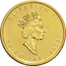 2002 1oz Canadian Maple Gold Coin