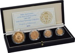 1989 Gold Proof Sovereign Four Coin Set - 500th Anniversary Boxed