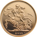 2013 Gold Sovereign - Elizabeth II Fourth Head Proof