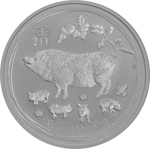 1oz Perth Mint Silver Year of the Pig 2019