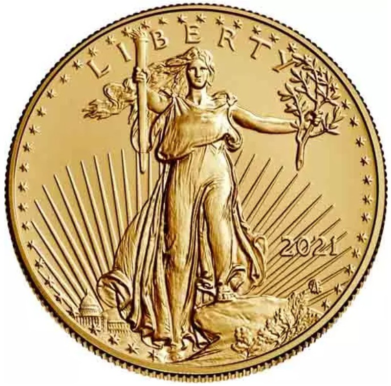 2021 Half Ounce American Eagle Type II Gold Coin