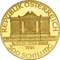 1991 Quarter Ounce Gold Austrian Philharmonic