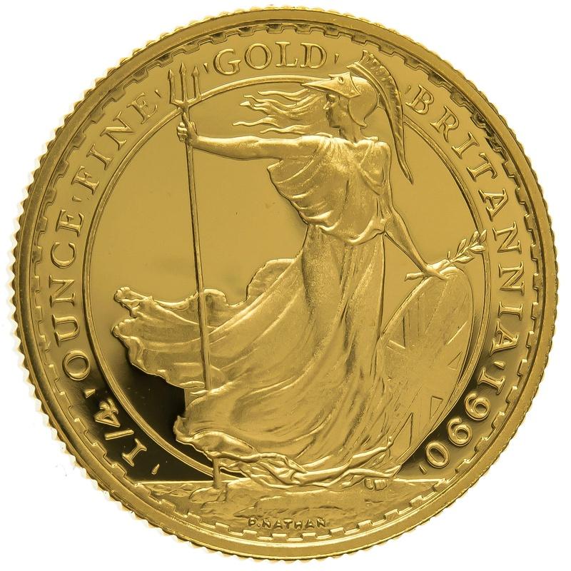 1990 Quarter Ounce Proof Britannia Gold Coin