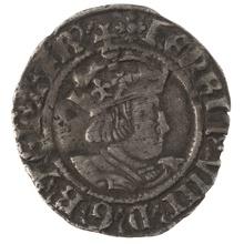 Henry VIII Twopence - Very Fine