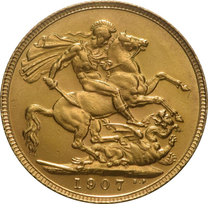 1907 Gold Sovereign - King Edward VII - London