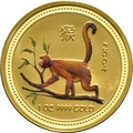 2004 1oz Gold Australian Year of the Monkey - painted