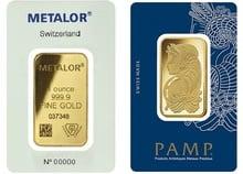 1oz Gold Bars Best Value (Brand New)