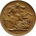 1919 Gold Sovereign - King George V - S
