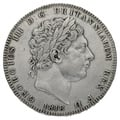 "1818 LIX George III Silver Crown rare ""TUTAMEN"" error"