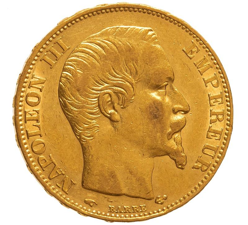 1857 20 French Francs - Napoleon III Bare Head - A