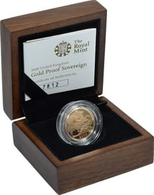 Gold Proof 2008 Sovereign Boxed