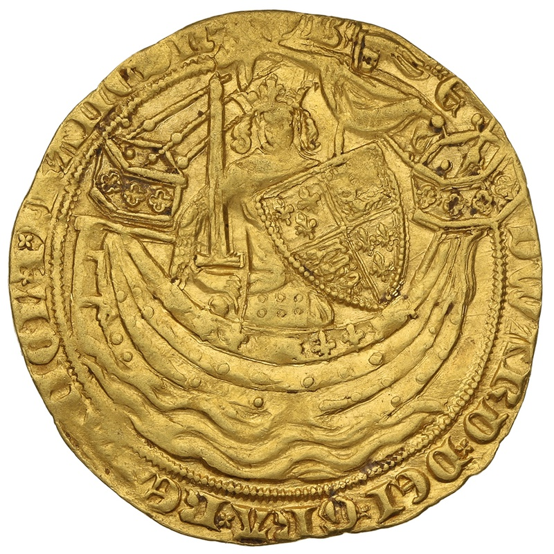 1356-61 Edward III Hammered Gold Noble mm Cross 3