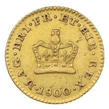 1800 George III Third Guinea Gold Coin