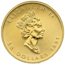 1991 1oz Canadian Maple Gold Coin