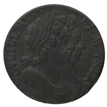 1694 William and Mary Copper Halfpenny