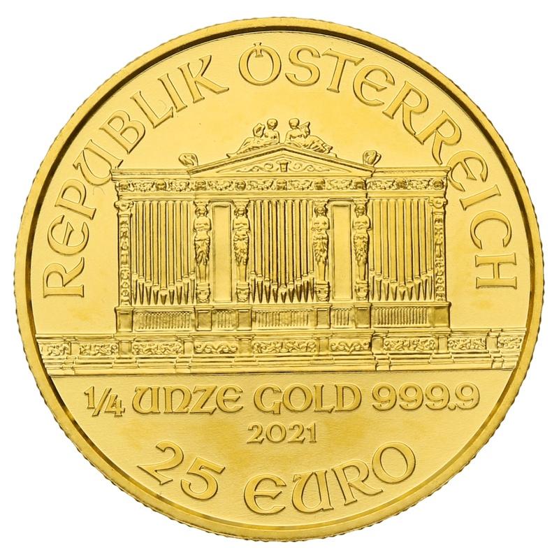 2021 Quarter Ounce Austrian Gold Philharmonic Coin