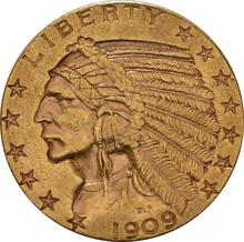 American Gold Half Eagle $5 Indian Head