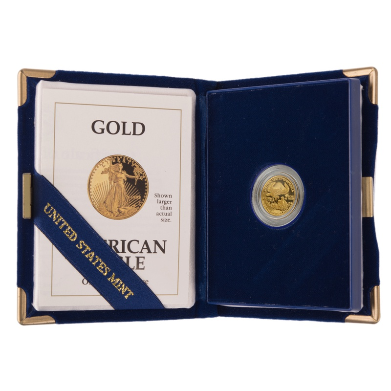 1992 Proof Tenth Ounce Eagle Gold Coin Boxed
