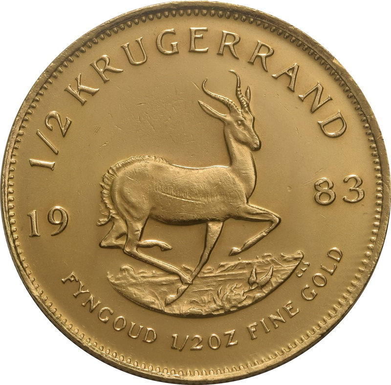 1983 Half Ounce Krugerrand Gold Coin