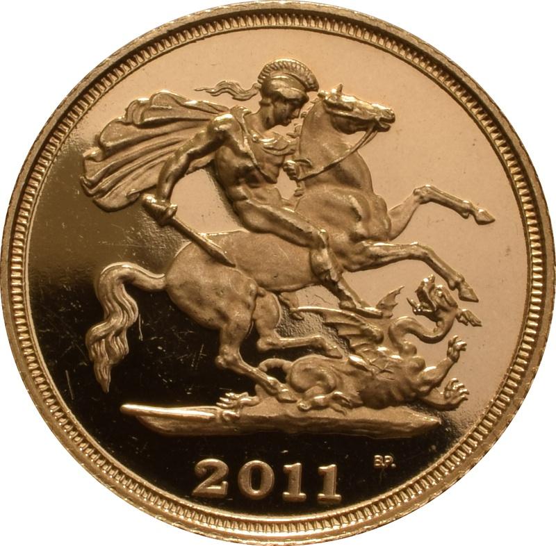 2011 Gold Half Sovereign Elizabeth II Fourth Head Proof