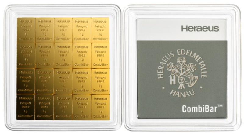Heraeus CombiBar 20 x 1 Gram Gold Bar
