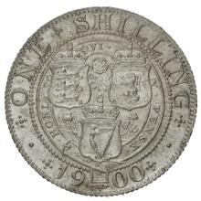 1900 Victoria Silver Shilling
