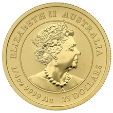 2020 Perth Mint Quarter Ounce Year of the Mouse Gold Coin
