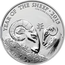 2015 Royal Mint 1oz Year of the Sheep Silver Coin