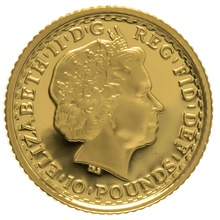 2001 Tenth Ounce Proof Britannia Gold Coin