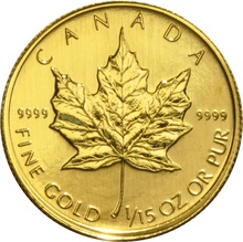 Fifteenth Ounce Gold Canadian Maple
