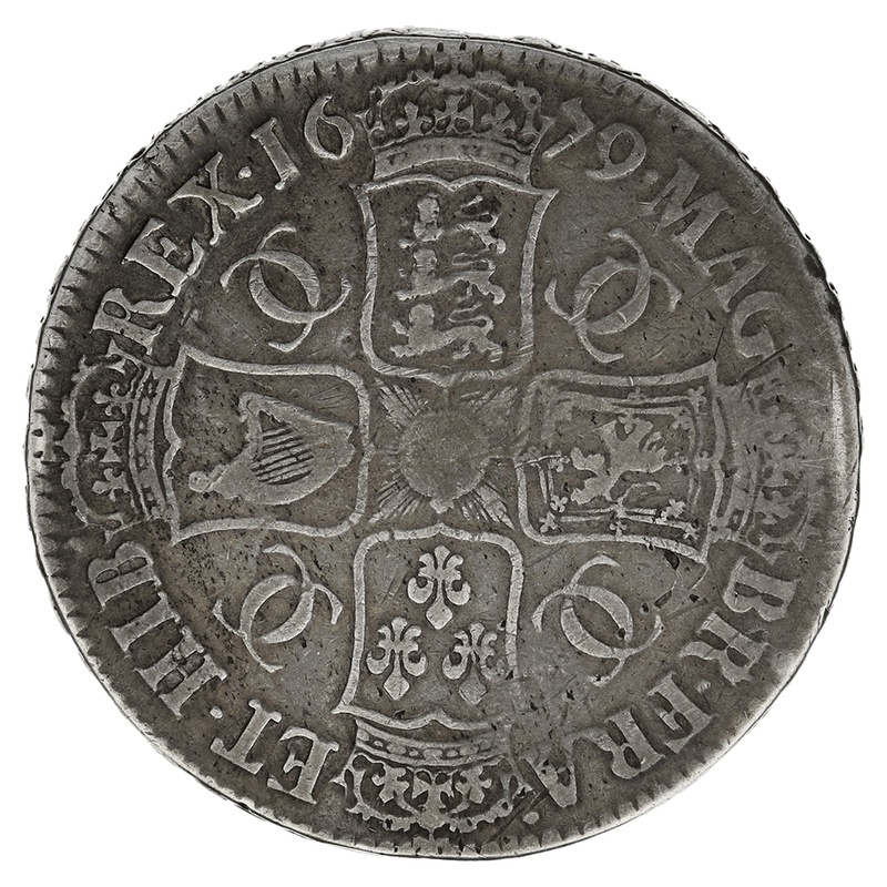 1679 Charles II Silver Crown TRICESMO PRIMO