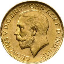 1918 Gold Sovereign - King George V - P