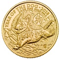 2018 Royal Mint 1/4 Oz Year of the Dog Gold Coin