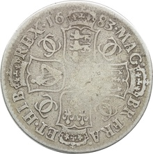 1683 Charles II Halfcrown - Fine