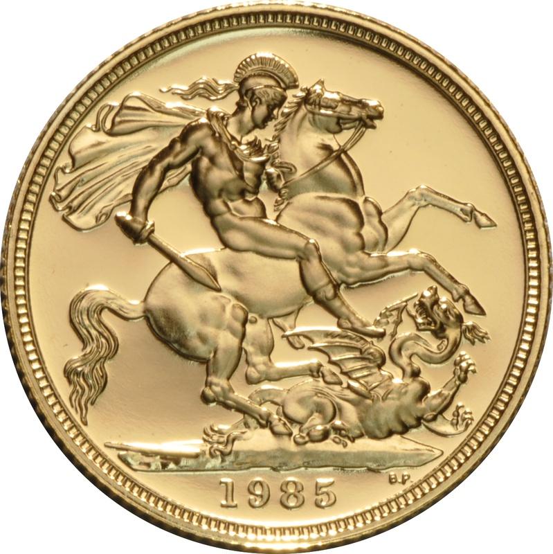 1985 Gold Sovereign - Elizabeth II Third head Proof