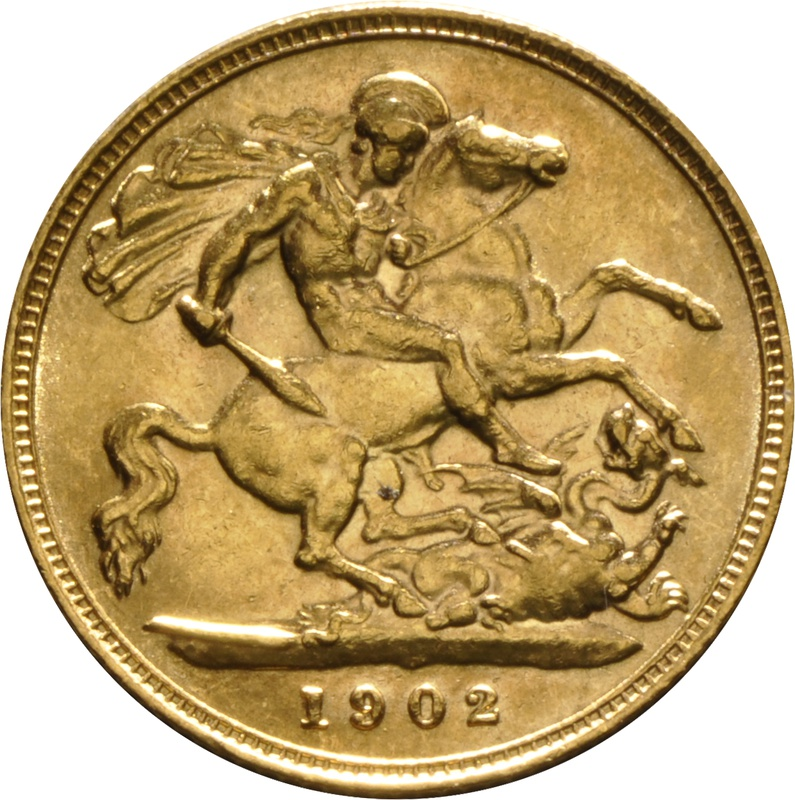 1902 Gold Half Sovereign - King Edward VII - London