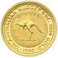 1990 Quarter Ounce Gold Australian Nugget