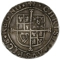 1638-9 Charles I Hammered Silver Sixpence mm Anchor