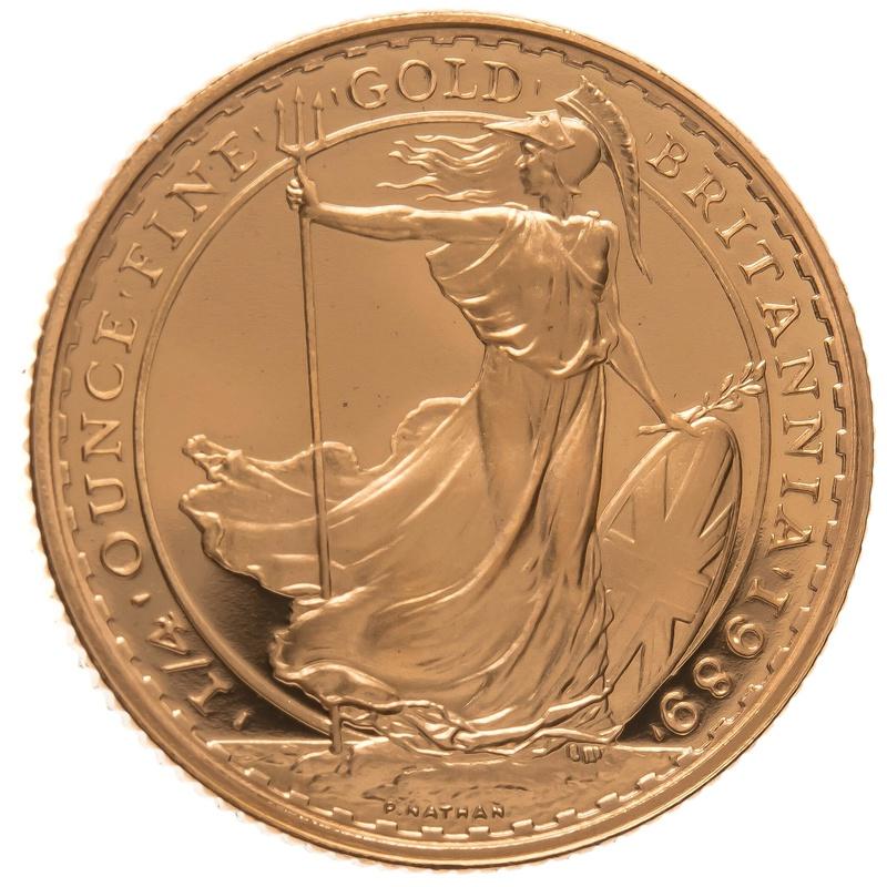 1989 Quarter Ounce Proof Britannia Gold Coin