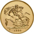 1995 - Gold £5 Brilliant Uncirculated Coin