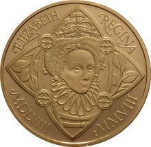 2008 - Gold £5 Proof Crown, Queen Elizabeth I Boxed